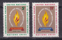 United Nations New York YT** 117-118 - Nuevos