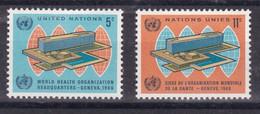 United Nations New York YT** 151-152 - Nuevos
