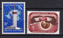 United Nations New York YT** 159-160 - Nuevos