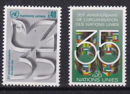 United Nations Genève YT** 92-93 - Nuevos