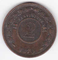 REPUBLICA DEL PARAGUAY. 2 CENTESIMOS 1870 . KM# 3 - Paraguay
