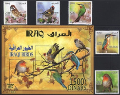 Iraq 2015, Iraqi Birds, MNH S/S And Stamps Set - Iraq