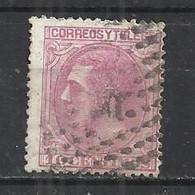 SPAIN 1879 - KING ALPHONSE XII - POSTALLY USED OBLITERE GESTEMPELT USAO - Usados