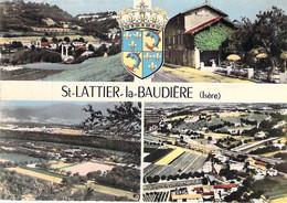 38 - ST LATTIER - LA BAUDIERE : Jolie Multivues CPSM Village (1.340 H) Dentelée Colorisée Grand Format 1963 - Isère - Sonstige Gemeinden