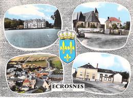 28 - ECROSNES : Jolie Multivues - CPSM Village (865 H) Dentelée Colorisée Grand Format - Eure Et Loire - Sonstige Gemeinden