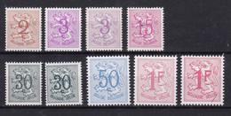 Belgie Postfris YT** 1026A-1027B - 1951-1975 Lion Héraldique