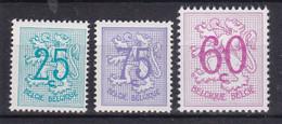 Belgie Postfris YT** 1368-1370 - 1951-1975 Lion Héraldique