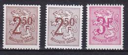 Belgie Postfris YT** 1544-1545 - 1951-1975 Lion Héraldique