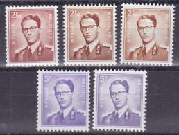 Belgie Postfris YT** 1028-1029 - 1953-1972 Anteojos