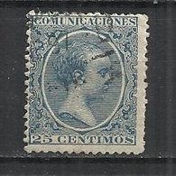 SPAIN 1889 - KING ALPHONSE XIII - POSTALLY USED OBLITERE GESTEMPELT USAO - Oblitérés
