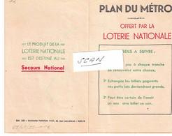 PARIS - Plan Du METRO Offert Par La LOTERIE NATIONALE - 650121 - Unclassified