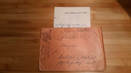 ALLEMAGNE   / LETTRE  ALLEMANDE SUD-ITALIE   /1943  AVEC  BEAUX  TAMPONS - 1939-45