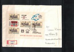 Czechoslovakia 1981 International Philatelic Exhibition WIPA Interesting Registered Letter - Unclassified
