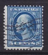 United States Perfin Perforé Lochung 'NCB' 5c. George Washington Stamp (2 Scans) - Perforados