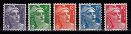 Marianne De Gandon N** Serie YV 883 à 887 Cote 28 Euros - Unused Stamps
