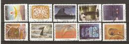 Belgique 2010 - Folon -Petit Lot De 10 Timbres° Différents De Carnet C115 - Used Stamps