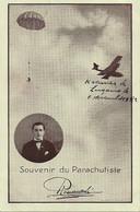Aviation - Parachutiste Plinio Romaneschi Et Aviateur H. Kramer - Lugano 1922 - Rare - Paracaidismo