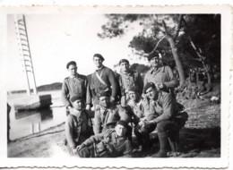 La Plage à L Aygade 1940 Le 4 Avril - Militaire - Photo - Près Hyeres - Guerra, Militares