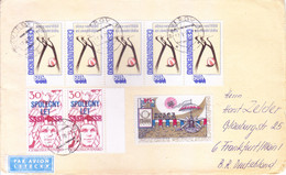 CZECHOSLOVAKIA : COMMERCIAL COVER SENT TO GERMANY : YEAR  1979 : USE OF 8v POSTAGE STAMPS - Cartas