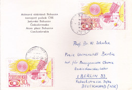 CZECHOSLOVAKIA : COMMERCIAL POST CARD SENT TO GERMANY : YEAR 1964: USE OF 2v POSTAGE STAMPS - Cartas
