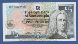 SCOTLAND - P.362 – 5 POUNDS 2002 - NUMERI BASSI - UNC - 5 Pounds