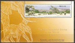 Namibia 2003 MiNr. 1114(Block 58) Animals ELEPHANTS Hoarusib River S\sh MNH** 3,20 € - Olifanten