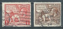 Grande-Bretagne YT N°171-172 Exposition De L'Empire Britannique 1924 Oblitéré ° - Gebraucht