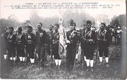 EVENEMENT ( Militaria ) PARIS Revue Du 14 Juillet 1913 à LONGCHAMP La Garde D'Honneur Du 1er Régiment Sénégalais - CPA - Andere