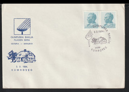 Yugoslavia Cover 1984 Sarajevo Olympic Games - Torch Relay Kumrovec (G123-76) - Winter 1984: Sarajevo
