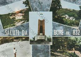 CARTOLINA  SALUTI DA BORE M.832,PARMA,EMILIA ROMAGNABOSCO PARADISO,VILLETTE,PANORAMA, RELIGIONE,CULTURA,VIAGGIATA 1977 - Parma