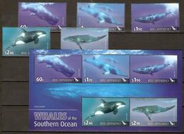 ROSS 2010 NEW ZEALAND MiNr. 119 - 123 (Block 4) Neuseeland Ross-Gebiet Marine Mammals Whales 5v +s\sh MNH ** 24,00 € - Nuevos