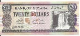 GUYANE 20 DOLLARS ND2018 UNC P 30 F - Guyana