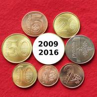 Belarus  Set 1 2 5 10 20 50 Kopeek 1 Ruble 2009 / 2016   Bielorússia Bielorrusia Biélorussie UNCºº - Belarus