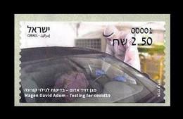 Israel 2021 Mih. A154 Medicine. Testing For Covid-19 Coronavirus. Automobile MNH ** - Frankeervignetten (Frama)