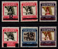 A674A -KOLUMBIEN - 1939. MNH - MI#: 396-401 - SURCHARGES - Kolumbien