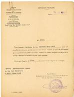 SEINE 1955 PARIS SIGNIFICATION DE LA CARTE DE DEPORTE RESISTANT BORDEREAU ENVOI  DE CETTE CARTE ( SANS LA CARTE ) - Historical Documents