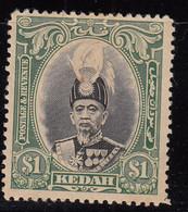 Kedah $1.00 MH 1937, Malaya / Malaysia - Kedah