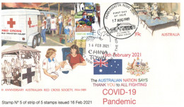 (II 26) Australia Post New COVID-19 Frontline Heroes (5 Of 5 Stamps Issued) For Sale 16-2-2021 (Chinatown Haymarket P/M) - Krankheiten
