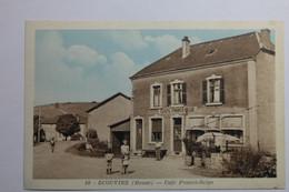 Cpa Couleur Ecouviez Meuse Café Franco Belge - EB14 - Sonstige Gemeinden