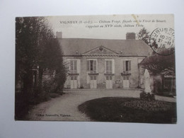 VIGNEUX Chateau  Fraye (Chateau Testu Au XVIe Siecle) Façade Sur La Foret De Senart - Vigneux Sur Seine