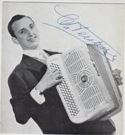 ACCORDEONISTE CHARLES VERSTRAETE AUTOGRAPHE ORIGINAL 1962 TBE - Chanteurs & Musiciens