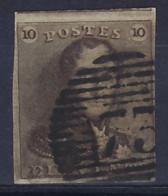 Nr. 1 Met Variëteit V11 (WB V16) En Met  Stempel P73 Van LIEGE / LUIK ; Staat Zie Scan ! - 1849 Epaulettes