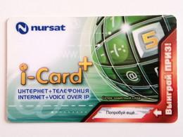 KAZAKHSTAN..PHONECARD..I-CARD....INTERNET+VOICE OVER IP...NURSAT - Telecom Operators
