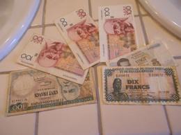BELGIUM  CONGO  BURUNDI    -  6  BILLETS  LOT - 100 Francs