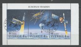 Europa CEPT 1991 Suède - Schweden - Sweden Y&T N°BF19d - Michel N°HB186D (o) - EUROPA - échancrure à Droite - 1991