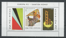 Europa CEPT 1993 Suède - Schweden - Sweden Y&T N°BF23d - Michel N°HB209D *** - échancrure à Droite - 1993