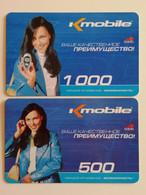 KAZAKHSTAN.. LOT OF 2 PHONECARDS..K-MOBILE.. - Telecom Operators