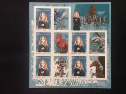 2007 Fête Du Timbre : Le Feuillet ** F116 Harry Potter Avec Vignettes Hermione 4026 A Auto-adhésifs - Adhésifs (autocollants)