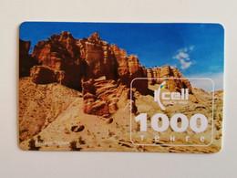 KAZAKHSTAN..PHONECARD.. KCELL..1000 TENGE..CANYON CHARYN - Montagne