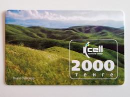 KAZAKHSTAN.. PHONECARD.. KCELL..2000 TENGE.. PLATEAU USCHKONYR - Montagne